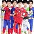 2016 Pijamas de los cabritos fijaron los niños de pijama ropa de los niños del bebé Pijamas 2-7 años Cartoon pijama Enfant ropa de dormir KF041