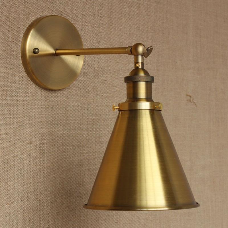 ФОТО Retro Vintage LOFT Bronze metal adjust  wall lamp for Bar Bathroom study bedroom diningroom foyer Vanity Lights E27 110-220V