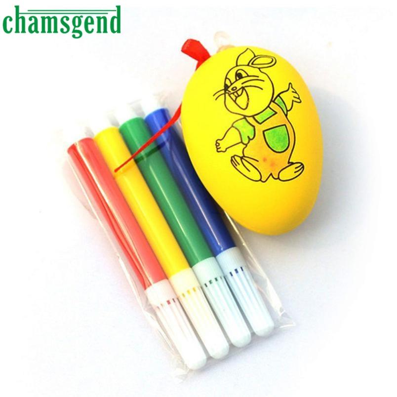 Chamsgend Water Color Pen Egg Kids DIY Painting Color Egg Toy Easter Egg Education Toys safe