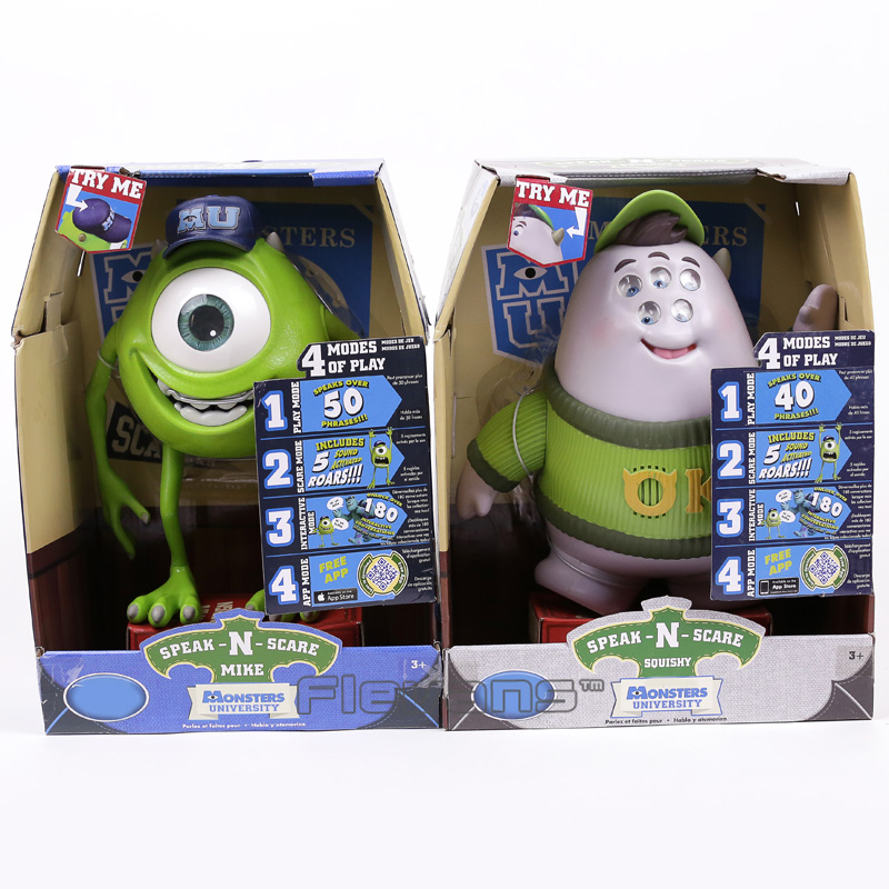 Monsters University Mike Wazowski / Squishy Speak and Scare Toy PVC Figure Gift for Children Kids 25cm 2 Styles цена и фото