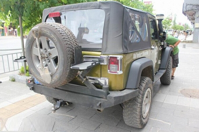 For Jeep JK Wrangler Heavy Duty Rock Crawler Rear Base Bumper for 07-15 Wrangler, Without Spare Tire Carrier