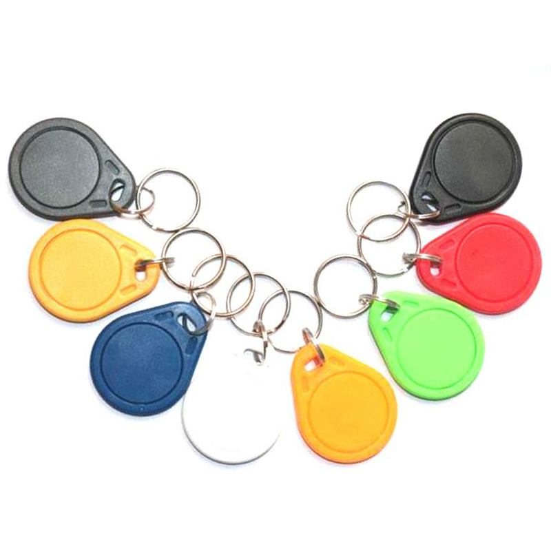 50pcs UID RFID 13.56mhz Duplicator Copy IC Tag Tags Card Key Fob Token Ring Proximity Chip Block 0 Sector Writable