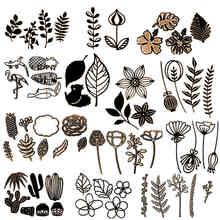 Кактус папоротник трава сорняки широколистные цветы полевые цветы металлические режущие штампы для DIY скрапбукинга изготовление бумажных открыток новые