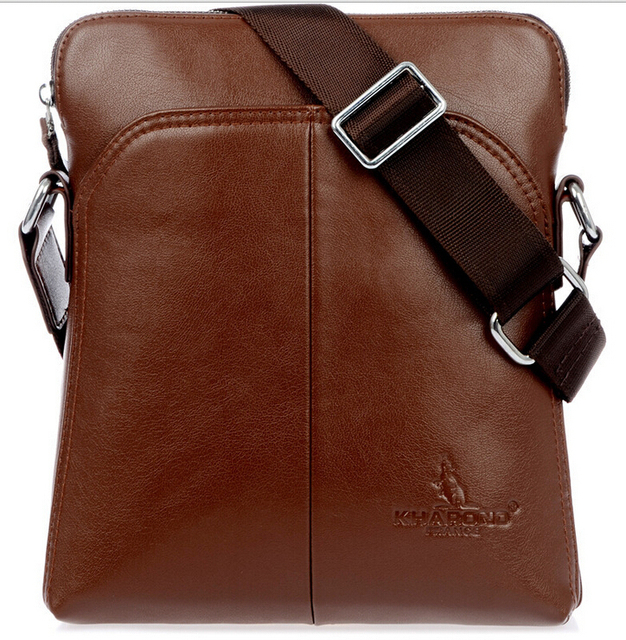 Exempt Postagenew 2017 Genuine Leather Men Messenger Bags Australia Kangaroo Logo Zipper Shoulder Briefcase