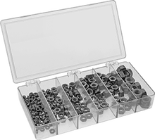 Hex Nut Assortment Inch Sizes, 90 Pieces, Zinc-Plated Grade 5 Steel,Sizes Included1/4-20 to 3/4-10