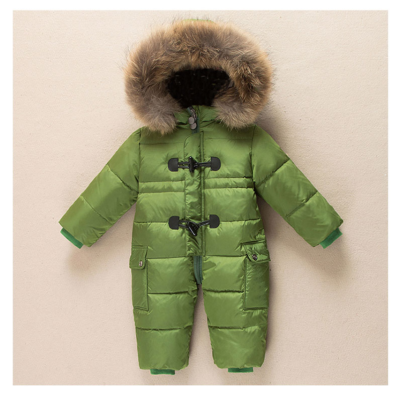 Warm Children's Winter Rompers Jumpsuit Kids Overalls Winter Boy Duck Down Snowsuit Baby Romper Thick Suits & One-Pieces Romper baby winter warm ski suits thick down