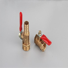 Red handle Ball valve Small valve Faucet Switch 1 point 2 points 1/4 Release venting water pipe red 2 1 2 to 5 handle dia gate valve lockout device