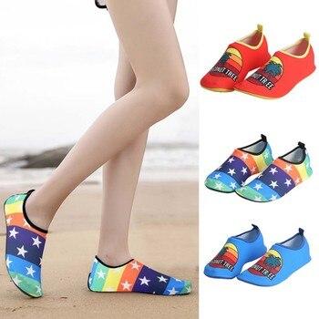 Nuevos zapatos de agua de verano para hombres y mujeres zapatos de playa pegatinas de viaje al aire libre zapatos flotantes de snorkeling árboles de coco
