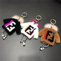 New fur, mink hair, small robot hanger, Rex rabbit hair, little clothes, little monster bag, pendant, car key buckle.