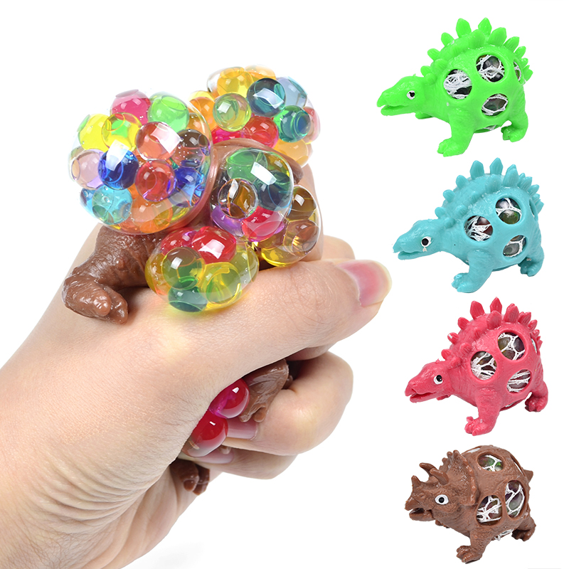 AINOLWAY Novelty Dinosaur Squishy Mesh Ball Grape Squeeze Relief Autism Toys Kids&Adult Anti-Stress Toys