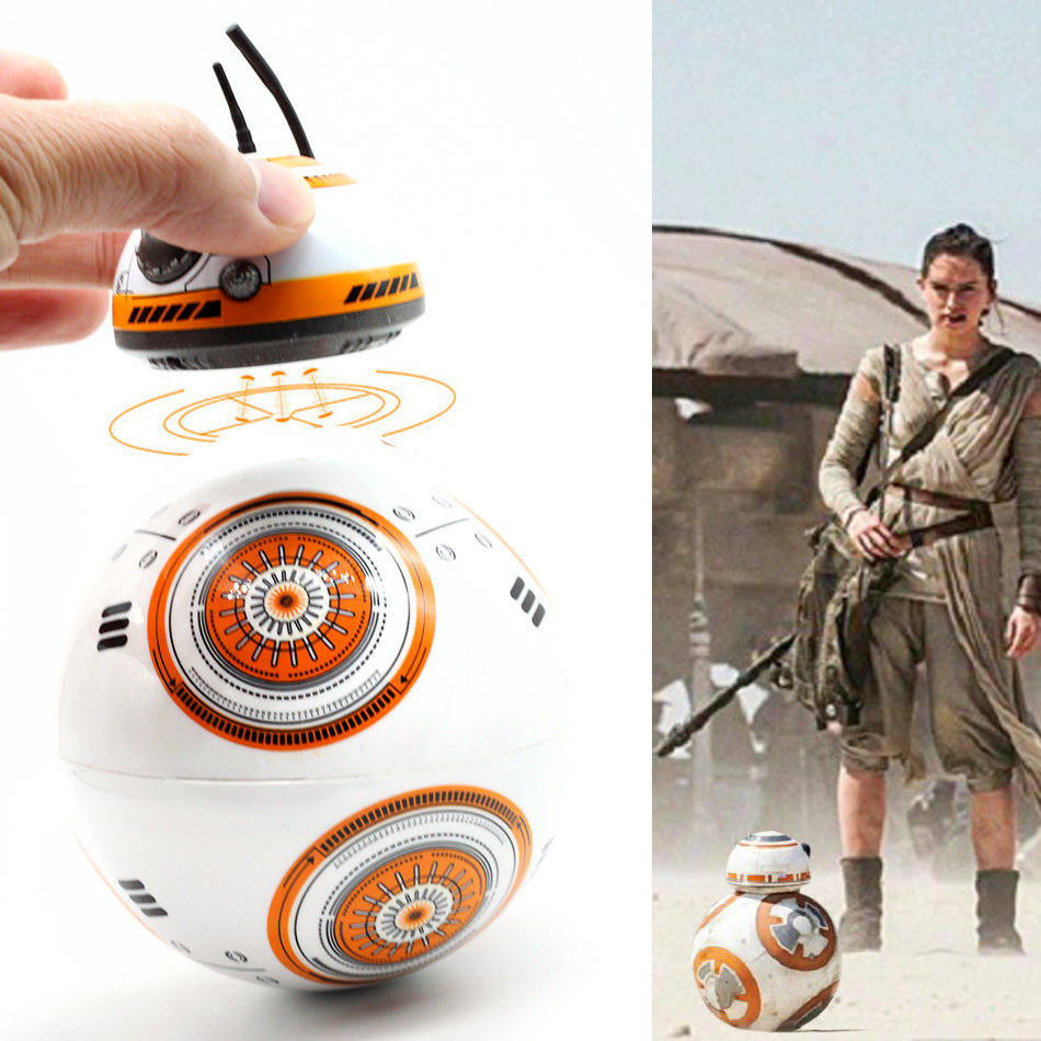 Star Wars RC BB8 Intelligent Upgrade Small Ball 2.4G Remote Control Droid Robot BB-8 Action Figure Kid Toy Gift With Sound Model 2 4g remote control bb 8 robot upgrade rc bb8 robot with sound and dancing action figure gift toys intelligent bb 8 ball toy 01