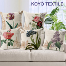 Vintage Botanical Floral Cushion Cover