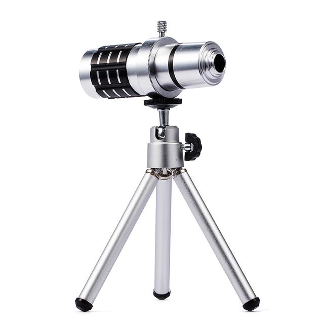 KRY 12x Universal Trípode de Cámara Del Telescopio Del Zumbido Óptico Teleobjetivo Lente de 12x para xiaomi redmi 3 s xiaomi redmi 3 s 3x lente lente 4a