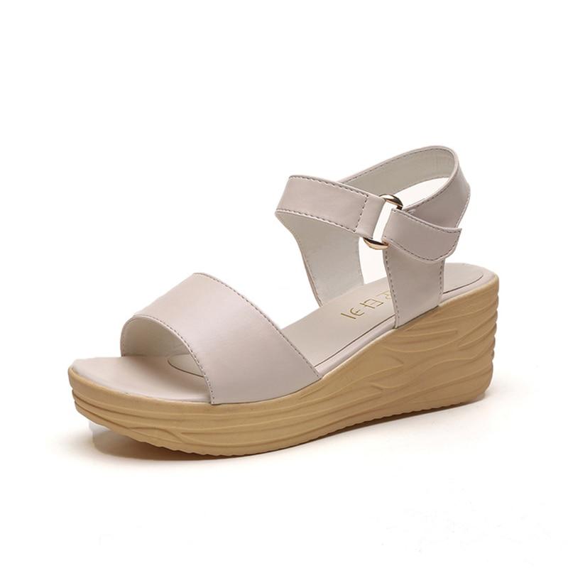 KUIDFAR Wedges Sandals Women Gladiator Sandals 2017 Summer Shoes Woman Open Toe Platform Ladies Shoes women sandals shoes 2017 summer shoes woman gladiator wedges cool fashion rivet platform female ladies casual shoes open toe