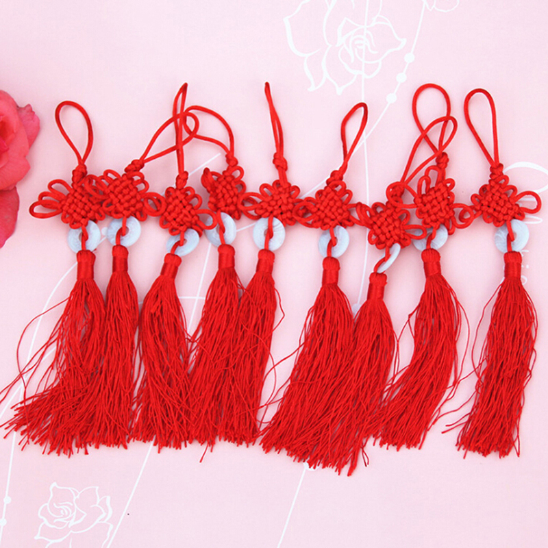 Plush Keychains Toys & Hobbies Ingenious 1pc/5pcs Chinese Knot Tassel Fringe Chinese Arts And Crafts Plastic Jade Tassels Decoration Pendant Gift Present Home Decor