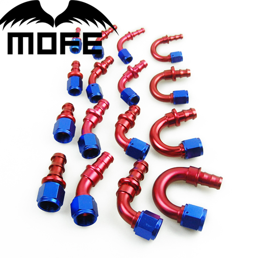 180 Degree Oil Cooler Line Push On Lock An6 6 An Hose End Fitting Adapter Strengthening Sinews And Bones 45 20pcs/lot Straight 90