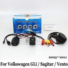 Камера Заднего вида Для Volkswagen VW GLi/Sagitar/Vento 2005 ~ 2011/Проводной Или Беспроводной HD Широкоугольный Объектив/Ночного Видения камера
