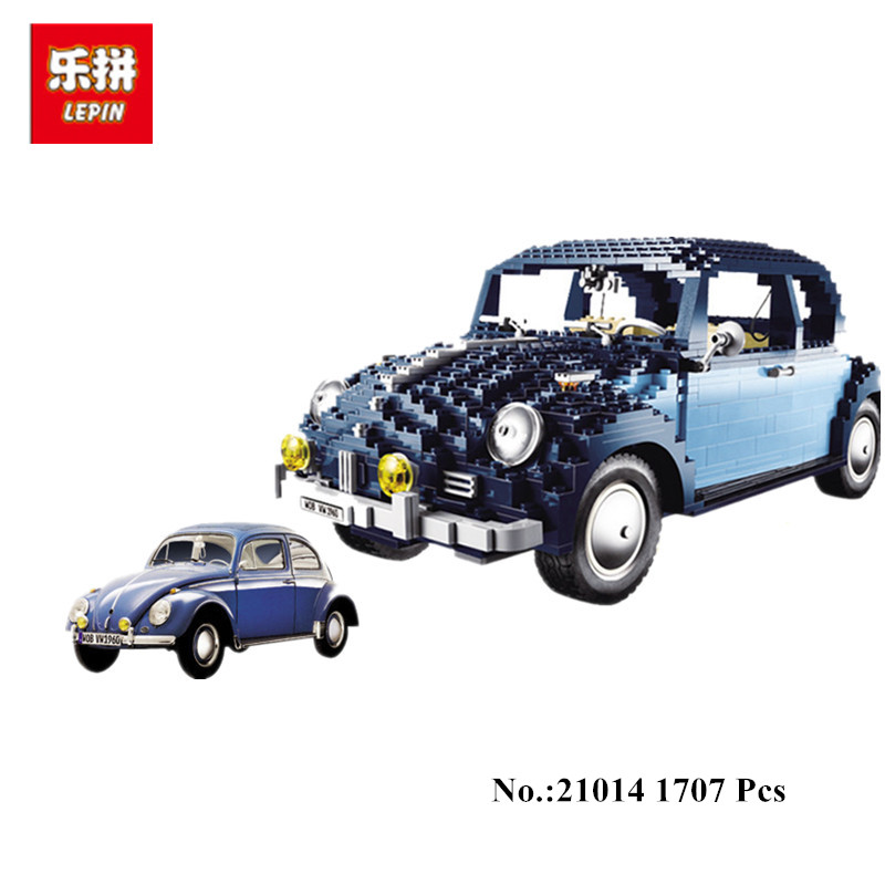 In-Stock Lepin 21014 1707Pcs  Classic Series The Ultimate Beetle Set car-styling Building Blocks Bricks Toys for children gifts in stock lepin 23015 485pcs science and technology education toys educational building blocks set classic pegasus toys gifts