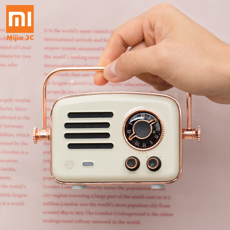 2019 Xiaomi Smart Radio Rétro Futurisme Réseau Station FM HIFI Niveau Charge Bluetooth AUX Haut-parleurs Wifi Internet Radio portable