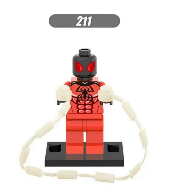 20Pcs Super Heroes Star Wars Scarlet Spiderman Spider Man Spider-Man Shadows Doctor Building Blocks Children Gift Toys XH 211