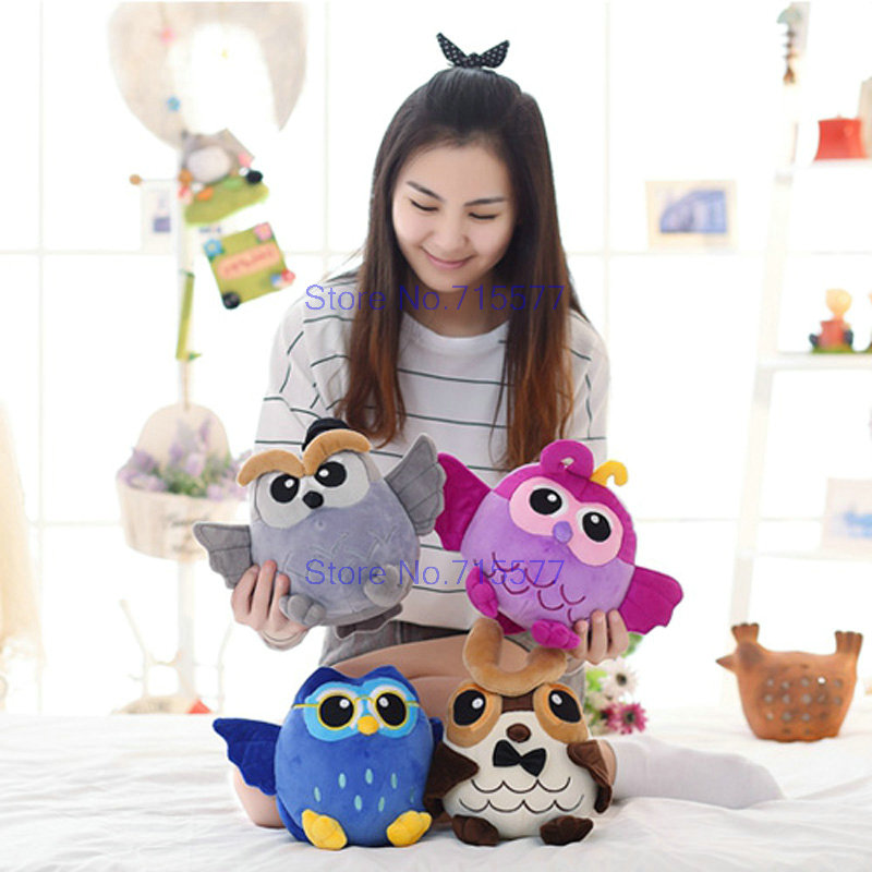 25-55cm Wholesale new arrive style Owl Doll Pillow Plush Toys gray/blue/purple/brown colorful bird doll Birthday gift Kids