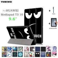 Ynmiwei чехол для Huawei MediaPad T3 10 Авто держатели для планшета тонкий Чехол для 9.6 дюймов Honor Play Pad 2 Чехол AGS-L09 AGS-L03 + Фильмы