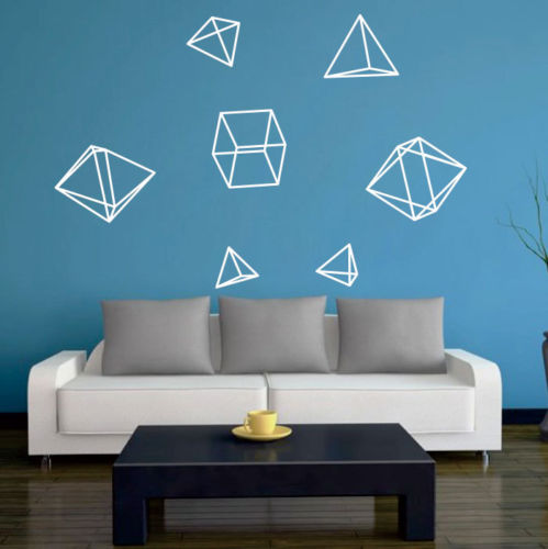 D532 Geometry Wall Art Stickers Kids Baby Nursery Decor Decal Removable Mural Gift Vinyl Decal Minimalism Home Decor