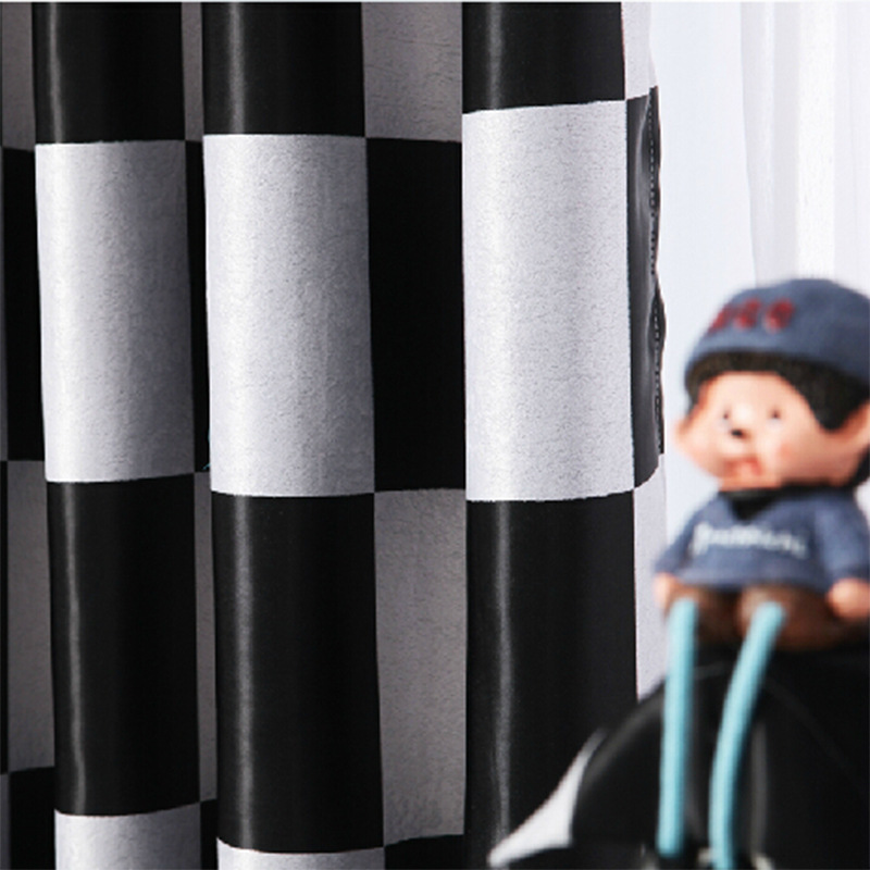 Black white case more high-grade study bedroom double jacquard cloth contemporary and contracted custom shading cloth curtain