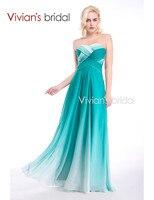 Vivian S Bridal Stock Dress Sexy A Line Long Evening Dress 2015 New Arrival Formal Dresses