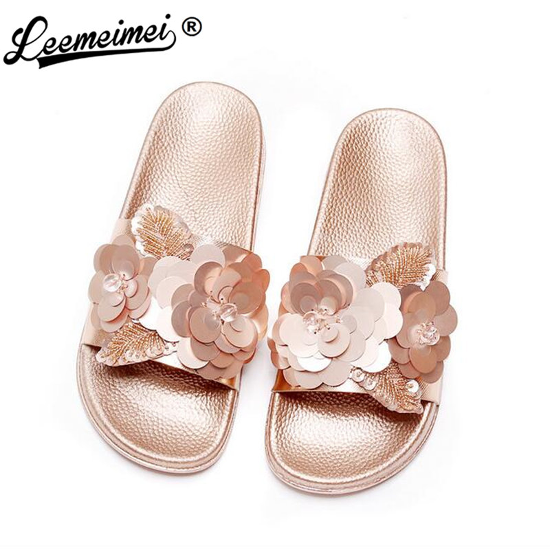 2018 New Women Bright Slippers Spring Summer Autumn Home Beach Slippers Home Flip Flops Comfortable Flat Shoes brand ksyoocur 2018 new ladies slippers shoes casual women shoes comfortable spring autumn summer women slippers shoes 18 014