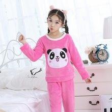 5dfa62e0d7 Nette Kleidung Winter Pijamas Kinder Warme Nachtwäsche Jugendliche Kleidung  Herbst Kinder Flanell Pyjama Sets Junge Cartoon