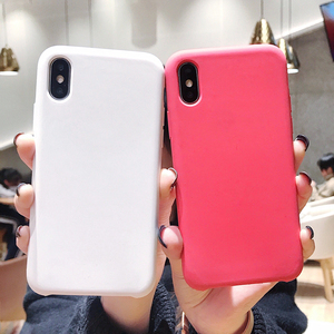 Image 1 - Soft TPU Silicone Case For iPhone XS Max Luxury Liquid Silicone Covers For iPhone X XR 7 8 Plus 6 6S Plus XS Marcon Color Covers