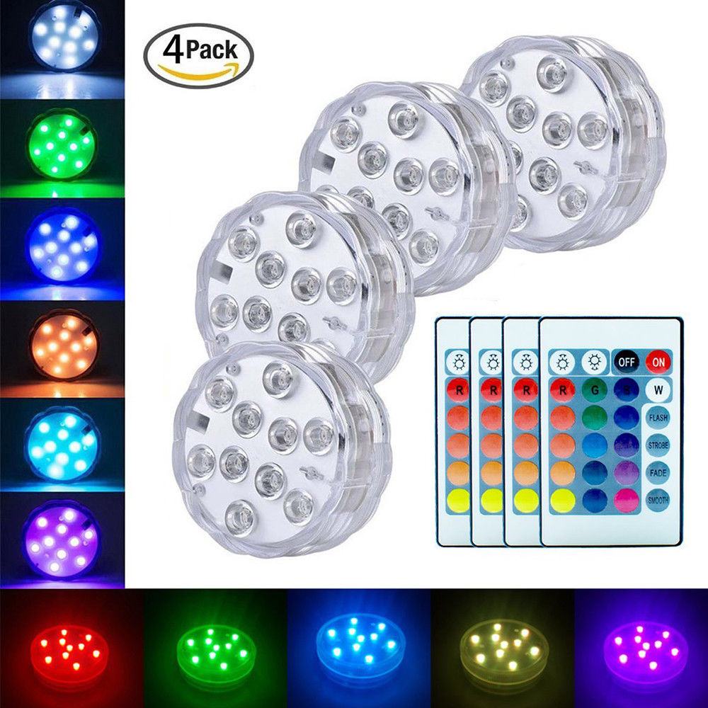 Hottub Led Verlichting Sunsaver Underwater Submersible Led Lights Waterproof Tea Light With Multi Color Remote Control For Hot Tub Pond Pool Bathtub