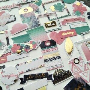 KLJUYP 70 stück Reise Ferien Karton Stanzungen für Scrapbooking Glücklich Planer/Kartenherstellung/Journaling Projekt