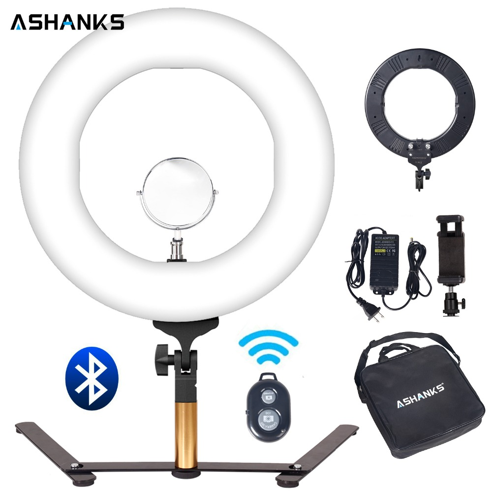 14 In Wireless Bluetooth Remote LED Selfie Light Ring for Phone Dimmer Tabletop Makeup Photo Studio Photography Video Live Lamp gamecraft remote for outdoor tabletop scoreboard