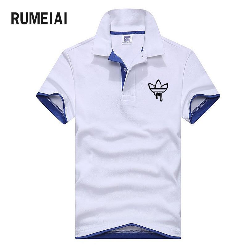 2018 Men Polo Shirt Men Casual Short Sleeve breathable polos Men's print Brand male cotton polo shirts Homme camisa masculina