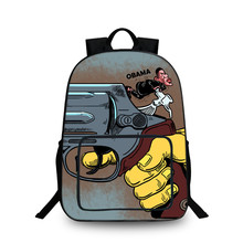 042c5bf184 BAOBEIKU Fashion 2017 Backpack BAN GUNS Style Women Backpack For Girls  College School Bag 3D Printing