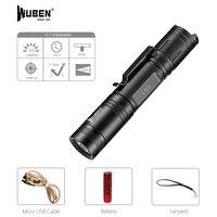 WUBEN Led El Feneri Taktik Torch 18650 Pil USB Şarj Edilebilir Işıkları Su Geçirmez Led Lamba CREE Taşınabilir Kamp Fener L50