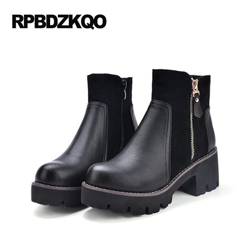 Round Toe Casual Shoes font b Women b font Ankle font b Boots b font Medium