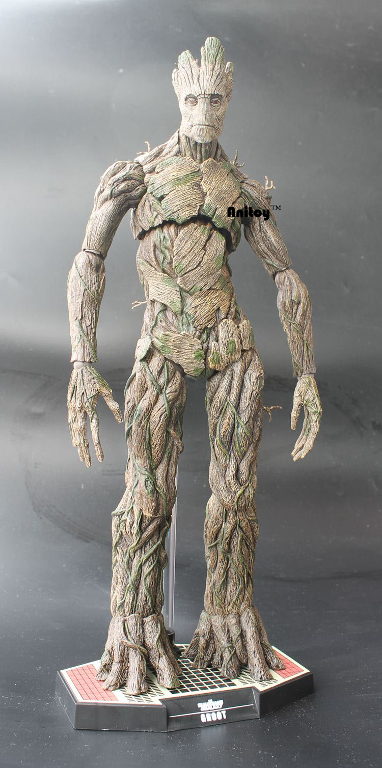 ФОТО Hot Toys Guardians of the Galaxy Groot 1/6 Scale PVC Action Figure Collectible Model Toy 38cm KT062