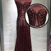 Wedding sequins lace high Quality latest African Embroidery Sequins Lace Fabric For Nigerian Evening Dresses GZ988
