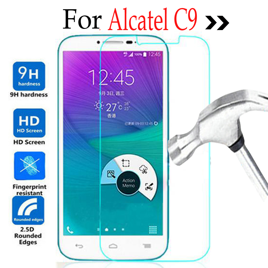 for Alcatel One Touch POP C9 Tempered Glass <font><b>Lcd</b></font> <font><b>Screen</b></font> Protector <font><b>2.5</b></font> 9h safety Protective Film on Onetouch C 9 7047 7047D 7047A image