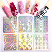 цена на HUAMIANLI Hollow Nail Art Stickers Colorful Nail Art Foil Stickers Transfer Decal Tips Manicure Diy Sticker Decal 24pcs/Lot