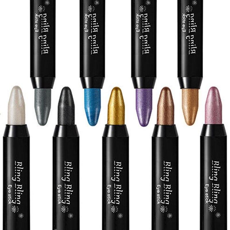 2018 Горячие Тени для век Ручка Pro Красота автоматически поворот высокой светлый перламутр Цвет Тени для век ручка лежала шелкопряда ручки 88 h7jp1