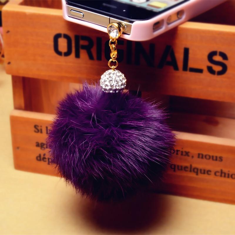 New arrival Promotion Earphone Jack Plug Crystal ball Rabbit