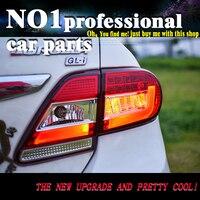OUMIAO стайлинг хвост лампы для Corolla задние фонари 2011 2013 Altis светодиодный фонарь задний фонарь светодиодный DRL + тормоз + Park + стоп сигнала лампы