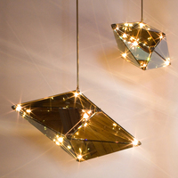 Modern LED pendant lights Nordic Glass hanging lamp diamond deco luminaires for loft living room restaurant bedroom home fixture