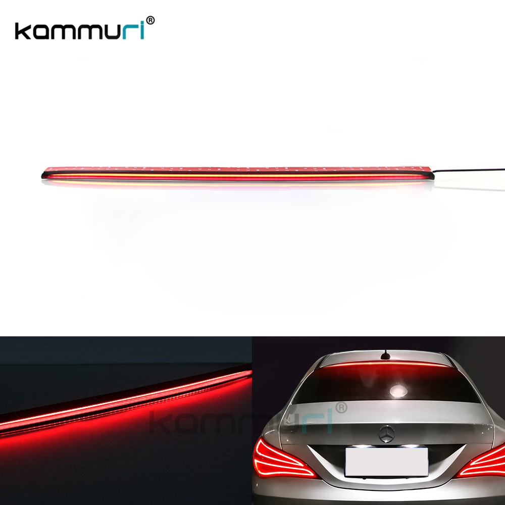36Inch Roofline LED Universal Third Brake Light Kit Above Rear Windshield For Mercedes-Benz C250 C300B Tesla car-Styling KAMMURI yandex w205 amg style carbon fiber rear spoiler for benz w205 c200 c250 c300 c350 4door 2015 2016 2017