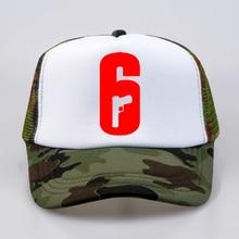 Rainbow Six Siege Cosplay Mesh baseball cap High Quality print letter Cool Summer Baseball Net Trucker Cap Dad Hat