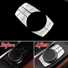 Wnętrza samochodu multimedia przycisk pokrywa wykończenia do 2016-2018 BMW X3 X4 X5 X6